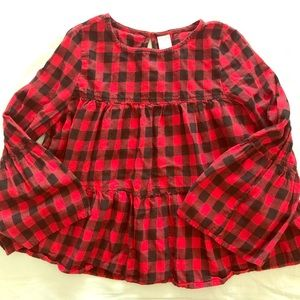 Arizona Red Buffalo Plaid Girl Top